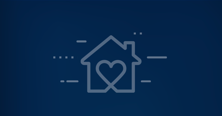 Graphic of house with heart in the middle